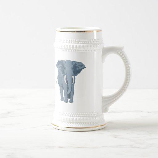 Elefante majestuoso jarra de cerveza