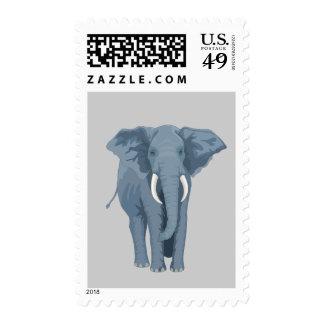 Elefante majestuoso sello