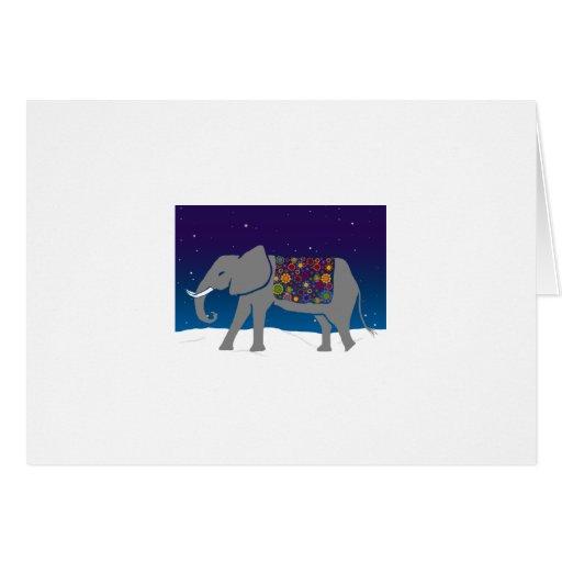 Elefante maravilloso tarjetón