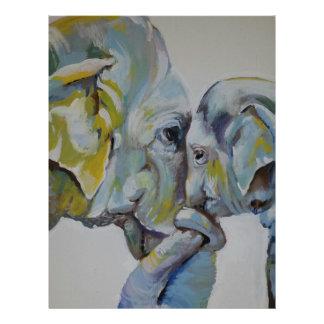 Elefante maternal membrete