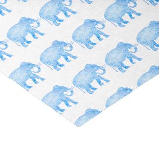 Elefante modelado azul de lujo papel de seda pequeño