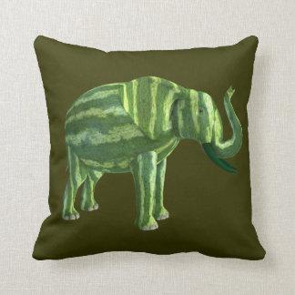 Elefante nacional del día de la sandía cojín