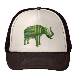 Elefante nacional del día de la sandía gorro de camionero