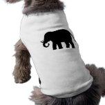 Elefante negro camisas de mascota