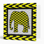 Elefante negro y amarillo del zigzag