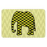 Elefante negro y amarillo del zigzag iman flexible