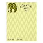 Elefante negro y amarillo del zigzag plantillas de membrete