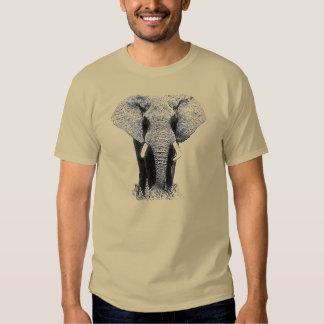 Elefante negro y blanco camisas