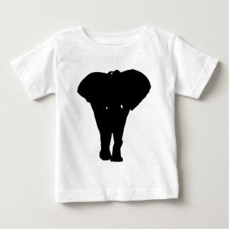 Elefante negro y blanco del arte pop camisetas