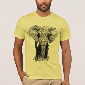 Elefante negro y blanco playera