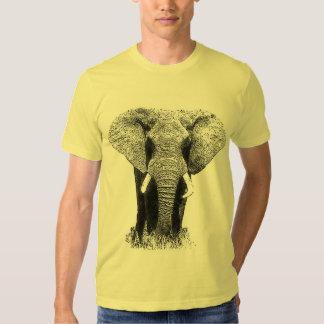 Elefante negro y blanco poleras