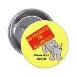Elefante ningunos cacahuetes soy alérgico pins