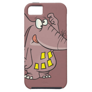 elefante olvidadizo divertido con las notas funda para iPhone SE/5/5s