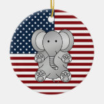 Elefante patriótico ornamentos de reyes