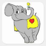 Elefante Pegatina Cuadradas Personalizadas