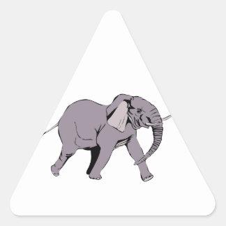 Elefante Pegatina Triangular