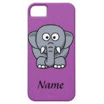 Elefante personalizado del dibujo animado iPhone 5 carcasas
