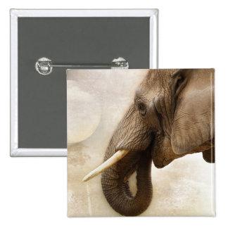 Elefante Pin Cuadrado