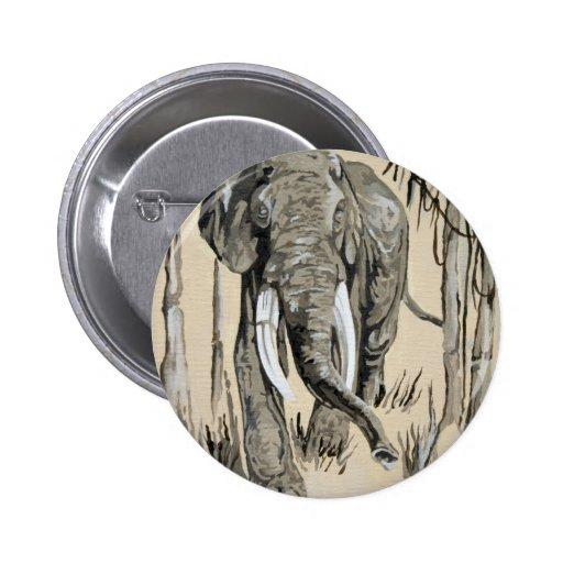 Elefante Pin Redondo De 2 Pulgadas