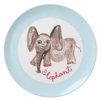 elefante plato de cena
