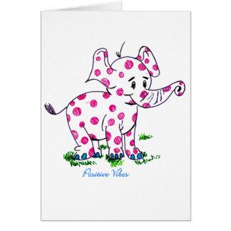 Elefante positivo de la sensación tarjeta de felicitación
