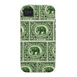 Elefante principesco indio de 1895 estados iPhone 4/4S fundas