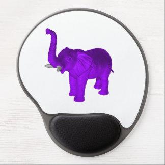 Elefante púrpura alfombrillas con gel