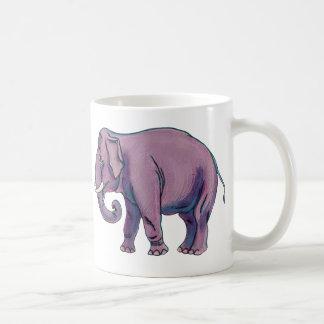 Elefante púrpura grande tazas de café