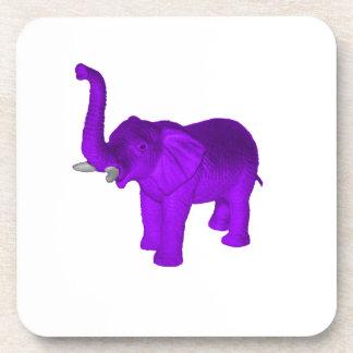 Elefante púrpura posavasos de bebida
