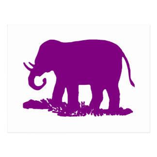 Elefante púrpura postales