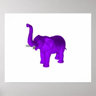 Elefante púrpura póster