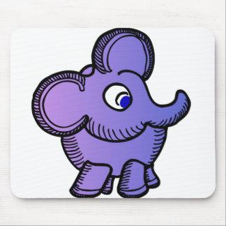 Elefante púrpura tapetes de ratón