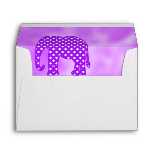 Elefante púrpura y blanco de los lunares