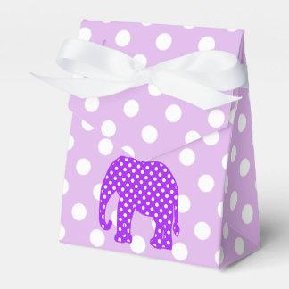 Elefante púrpura y blanco de los lunares caja para regalos de fiestas