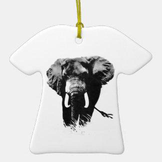 Elefante que camina adorno de cerámica en forma de camiseta