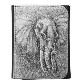 Elefante que dibuja arte animal blanco y negro