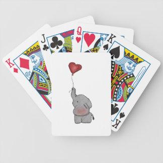 Elefante que sostiene el globo baraja de cartas bicycle