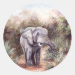 Elefante QUE VIENE A TRAVÉS del pegatina
