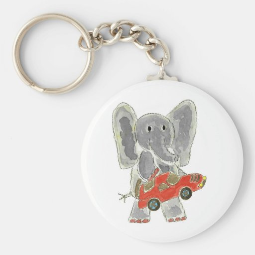 Elefante Racecar Llavero Personalizado
