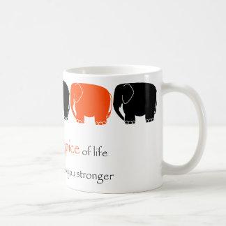 Elefante raro de la especia tazas