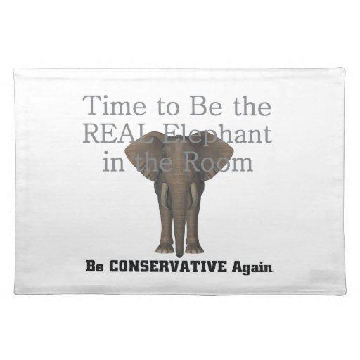 Elefante real de la CAMISETA Mantel