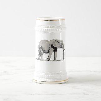 Elefante real jarra de cerveza