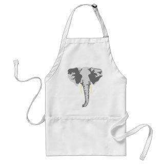 elefante realista adaptable con los colmillos delantal