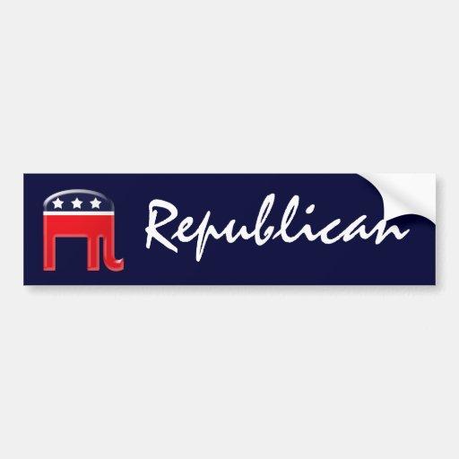 Elefante republicano etiqueta de parachoque