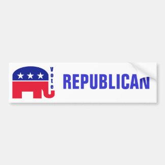 Elefante republicano pegatina de parachoque