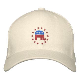 Elefante republicano con el logotipo de la gorras de beisbol bordadas