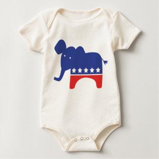 Elefante republicano del bebé body para bebé