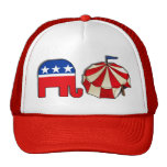 Elefante republicano del circo gorra