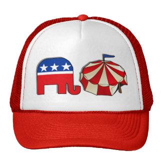 Elefante republicano del circo gorras