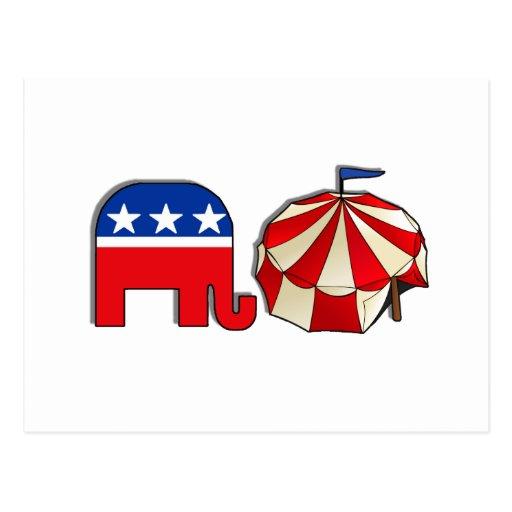 Elefante republicano del circo postal
